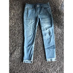 White House Black Market Frayed Bottom Jeans